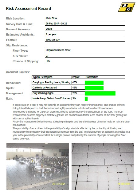 Example Risk Assessment Form