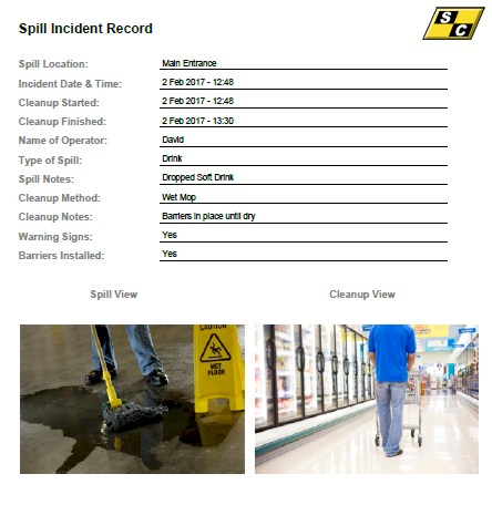 Spill Management Record